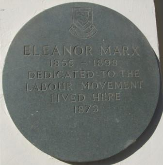 Eleanor Marx plaque11-18692