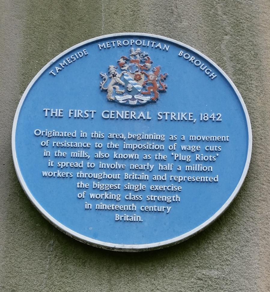 Tameside 1842 Strike plaque 111-32092