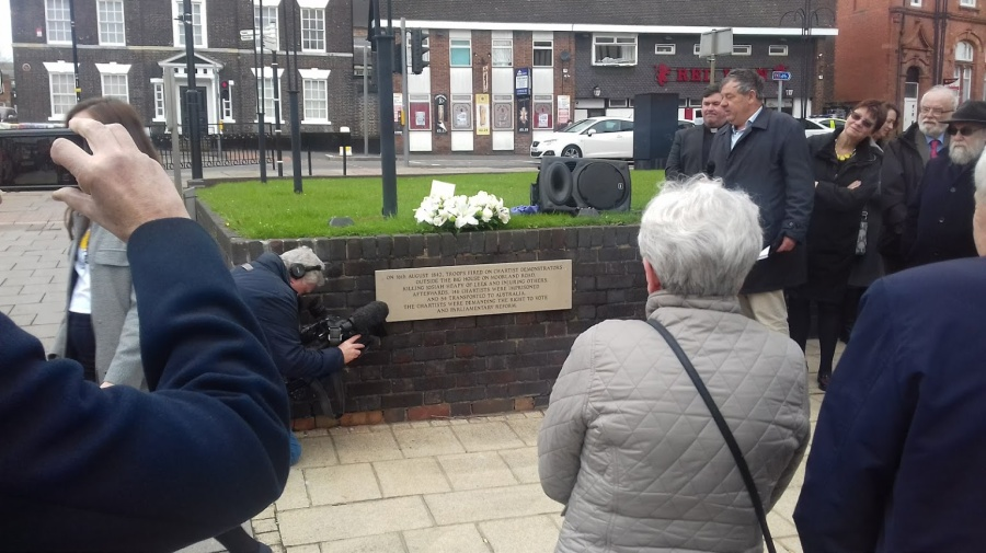 Josiah Heapy plaque is unviled in Burslem on WMD 2018