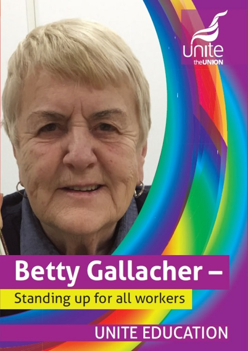 Betty Gallacher - standing up for all workers