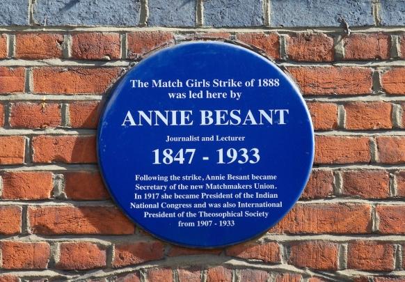 Annie Besant plaque